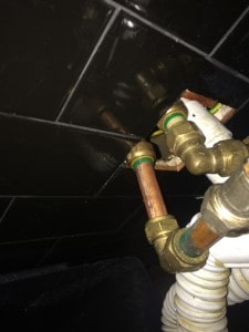 repair with copper pipe