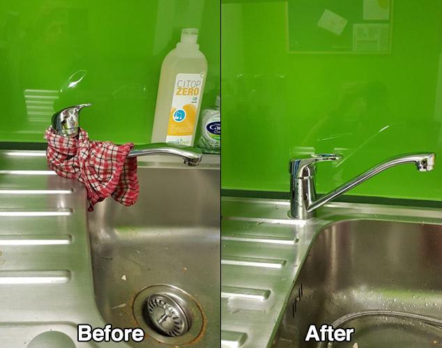 sink tap leak