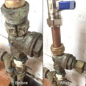 Fractured Plumbing Fitting and Leak - Dublin Area Plumbers